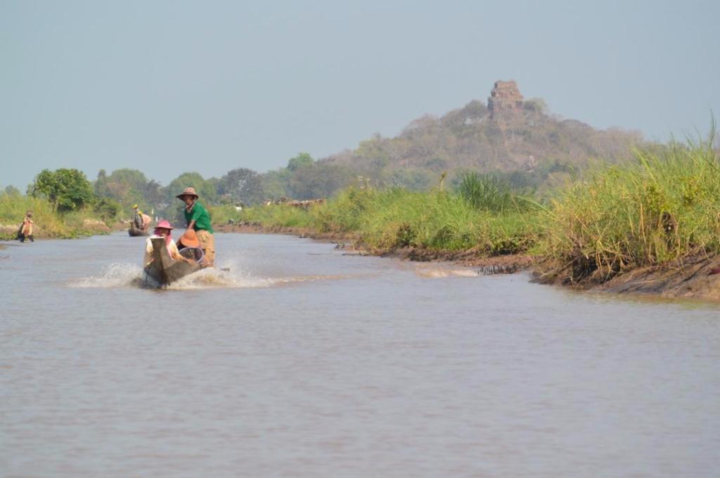 Phnom Da across the Mekong Marshlands