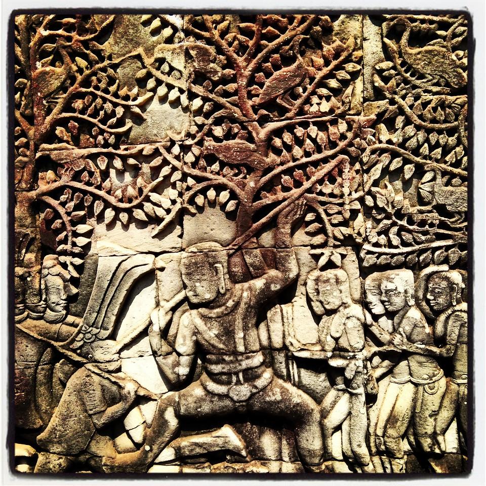 Impressive carvings detailing battles
