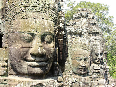 Cambodia: Siem Reap: Angkor Thom: The Bayon and Elephant Ride 2005