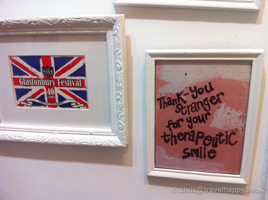 ARTillery Arts Cafe interior Anglophile wall hangings