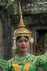 Khmer-dancer-in-aspara-costume,-Terrace-of-the-Elephants,-Angkor-Thom,-Cambodia