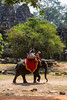Elephant rides are provided near the Angkor Thom Temple in Cambodia, Asia.
