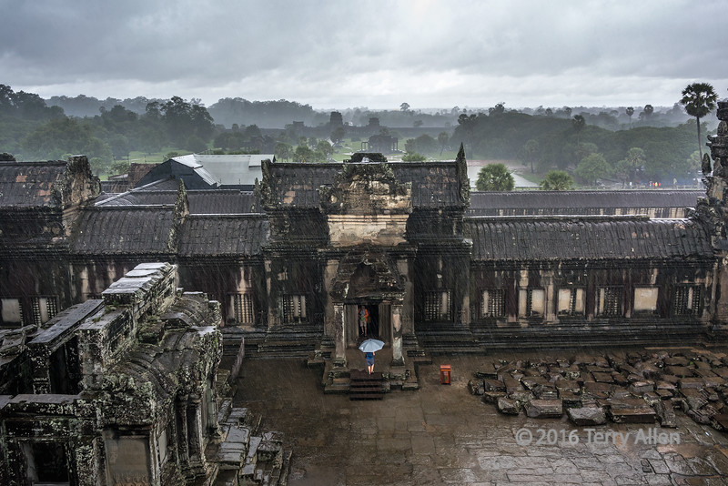 Rainy day view at Angkor Wat