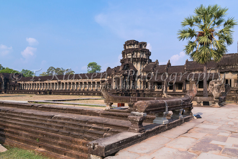 The ruins and remains of the temple at Angkor Wat near Siem Reap, Cambodia, Asia.