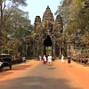 the gates into Angkor Thom are at the four cardinal positions: north, south, east and west