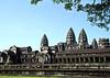 Angkor Wat and a monk
