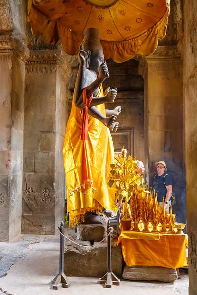 Angkor Wat - Statue of Vishnu