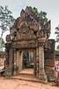 East-gopura-(entrance),-Banteay-Srei-Hindu-temple-to-Shiva,-Siem-Reap,-Cambodia