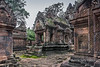 The-mandapa-(entrance-chamber,-prayer-hall)-at-Banteay-Srei-(Citidal-of-the-Women),-Siem-Reap,-Cambodia
