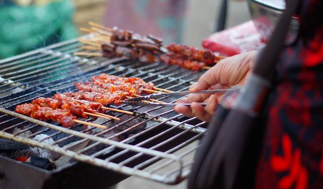 Food at the local market in Battambang
