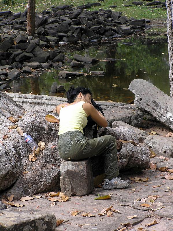Tourist having a rest