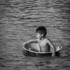 Boy in Tub B/W 1