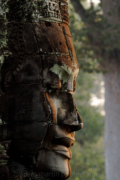 Beautiful dawn light. The Bayon, Cambodia.