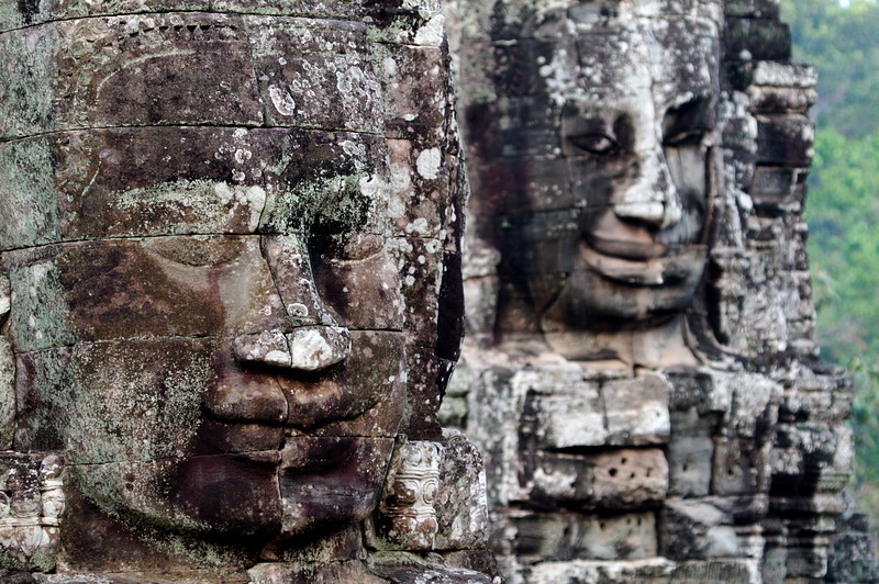 Every face is different. The Bayon, Cambodia
