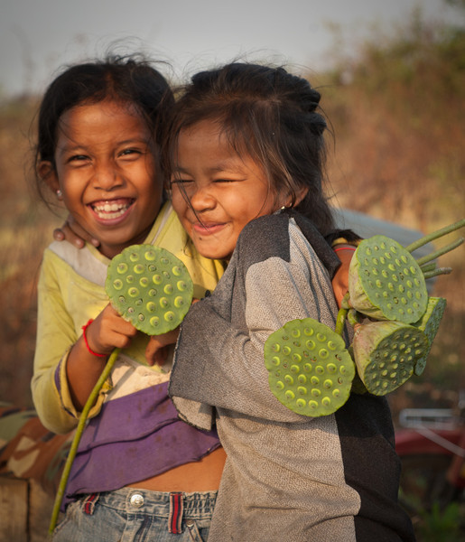 two girls with their lotus