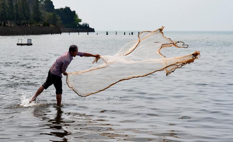 Kep net fisherman