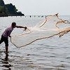 Kep net fisherman