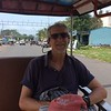 we took a tuk tuk between Otres Beach and Sihaoukville on the second day to look around, eat lunch, and do some shopping