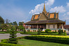 The Phochani Pavilion in the Royal Palace complex of pagoda architecture buildings in Phnom Penh, Cambodia, Asia.