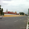 Shockingly empty road by the Silver Pagoda, Phnom Penh