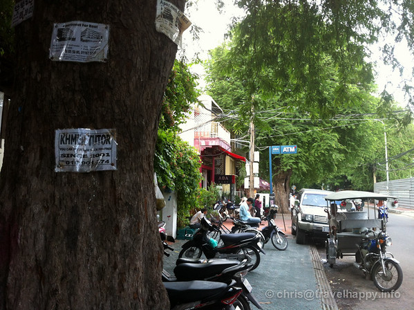 Tuk tuks and trees, Phnom Penh