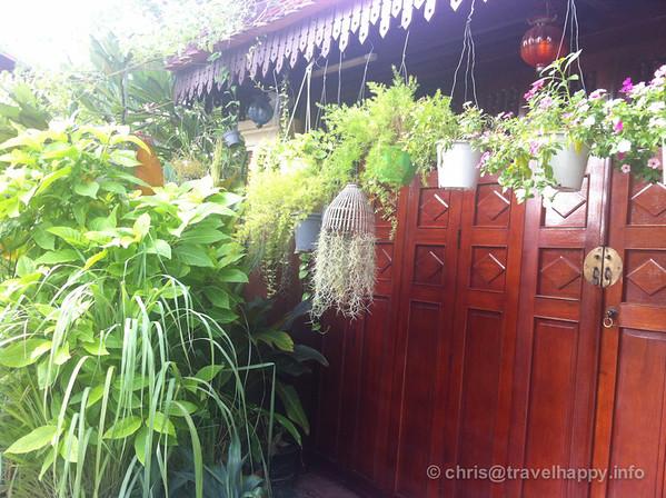 Flowerpots and wooden doors, Phnom Penh