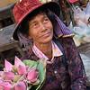 Cambodian lotus lady
