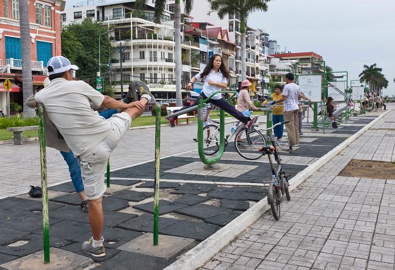 Morning exercise Phnom Penh