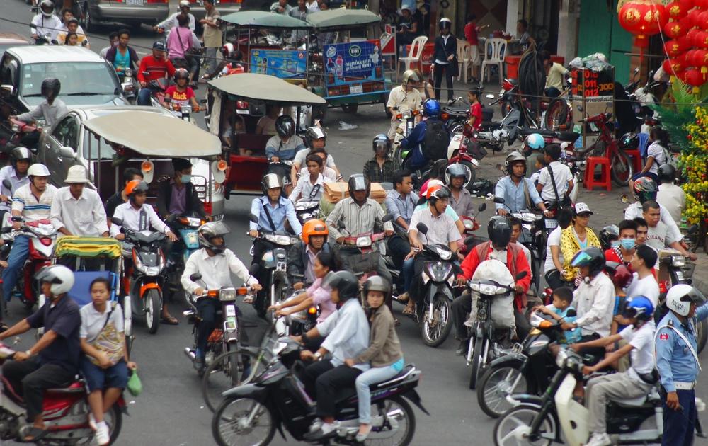 Busy Traffic | Phnom Penh, Cambodia | Travel Photo