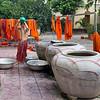 Washing monk