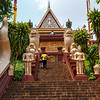 Wat Phnom - Main stairway leading to the Pagoda