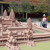 a replica of Angkor Wat on the grounds of the Royal Palace