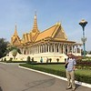 our hotel in Phnom Penh, the capitol, was across from the Royal Palace - Silver Pagoda complex, a large uncrowded area bullt in the 19th century.  The current king (a ceremonial position only) is the son of Norodom Sihanouk, who was king from 1941 to 1970 (before the war and Khmer Rouge years) and again from 1993 to 2004.