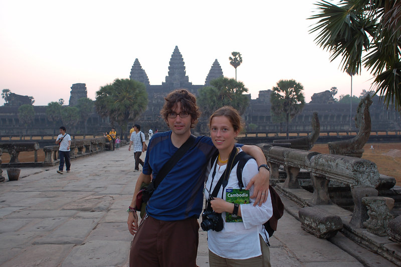 Emilie and Yann need a photo with Angkor Wat!