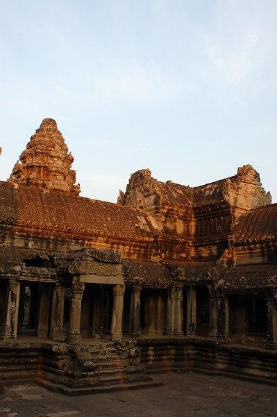 An Angkor Wat courtyard