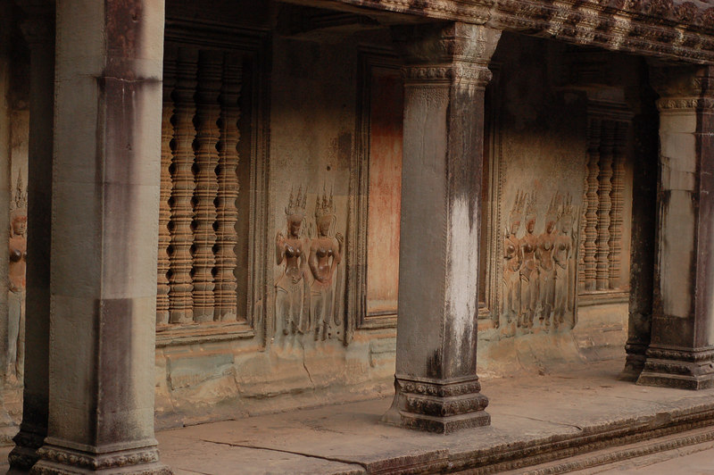 Entering Angkor Wat