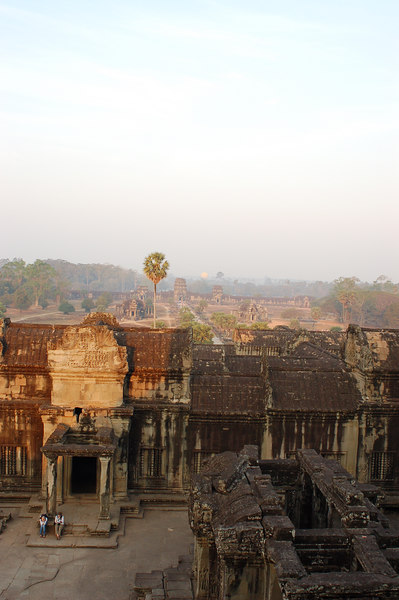 View of the immense Angkor Wat from its top