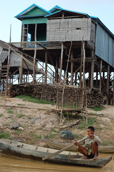One of Kompong Phhluk's highrises.