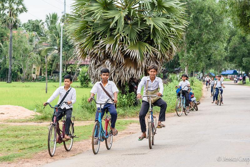 Boys Biking Home From School