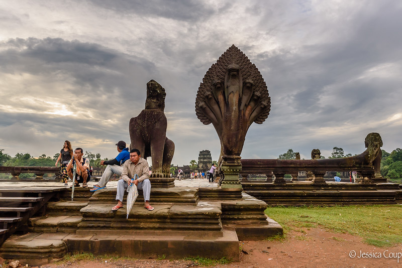 Sunrise Fatigue at Angkor Wat