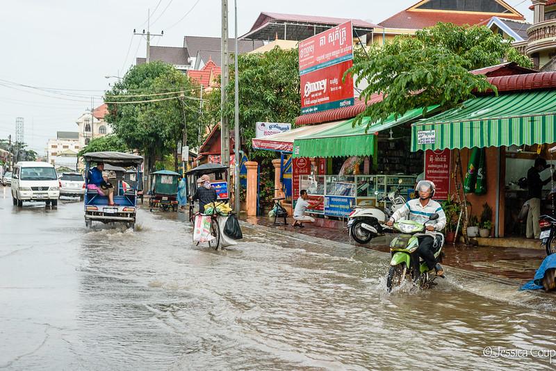 Biking Through the Flooding