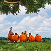 Monks Chatting Between Lessons