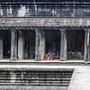 A Buddhist Blessing in the Angkor Wat Temple