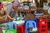 The insect market in the small village of Skoun, Cambodia, Asia.