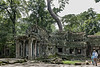 Ta-Prohm,-view-from-the-West-Gate,-Angkor-Thom,-Cambodia