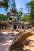 The historic ruins of the Ta Prohm Temple near Siem Reap, Cambodia, Asia.