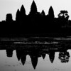 "The magnificent Angkor Wat rendered as a silhouette - Temples of Angkor, Cambodia.  Travel photo from Temples of Angkor, Cambodia. <a href=""http://nomadicsamuel.com"">http://nomadicsamuel.com</a>"