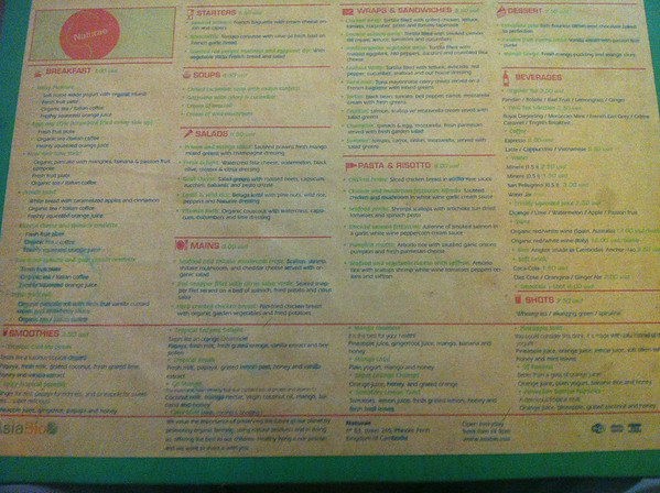 Naturae Restaurant Menu