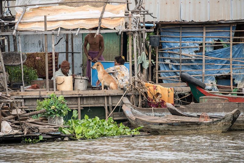 Life on the Tahas River, Kampong Phluk, Cambodia