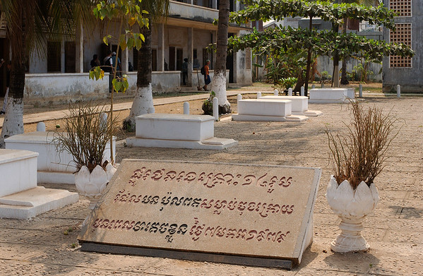 Tuol Sleng Genocide Museum in Phnom Penh. The site is a former high school which was used as the Security Prison 21 (S-21) by the Khmer Rouge from 1975 to 1979. As many as 20,000 prisoners there were tortured and killed.